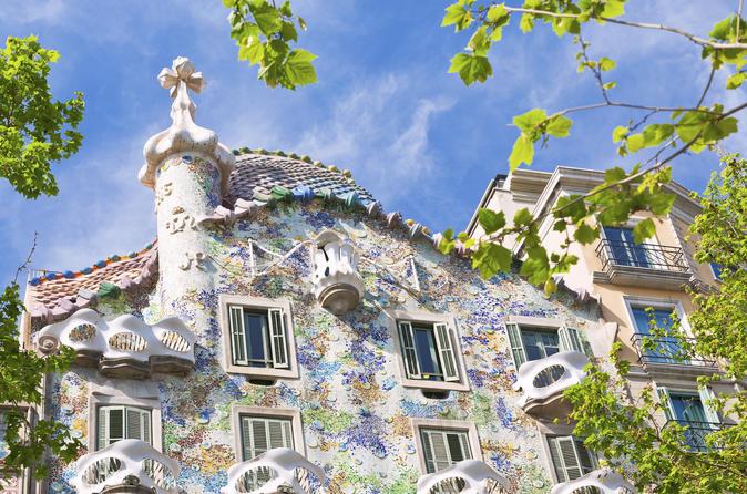 Ingresso de entrada direta para a Casa Batlló de Gaudi com excursão com vídeo