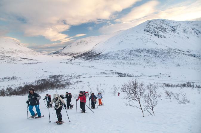 5-Hour Guided Snowshoe Hill Hike on the Whale Island in Tromso