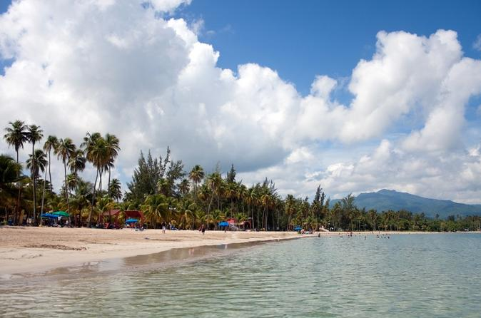 El Yunque Rainforest and Luquillo Beach from San Juan Puerto Rico, South America