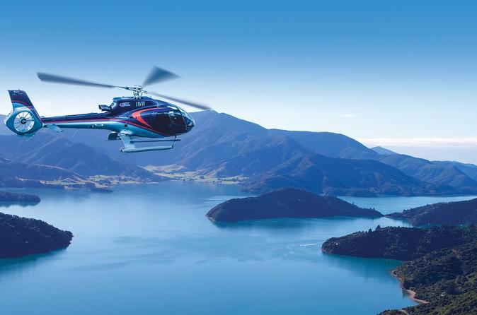Bay of Many Coves Helicopter Tour with 3-Course Lunch from Wellington