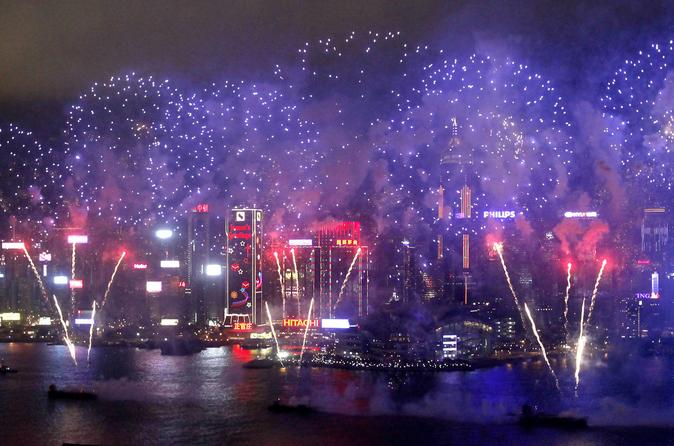 chinese new year fireworks cruise with buffet dinner and drinks in hong kong - Chinese New Year Fireworks