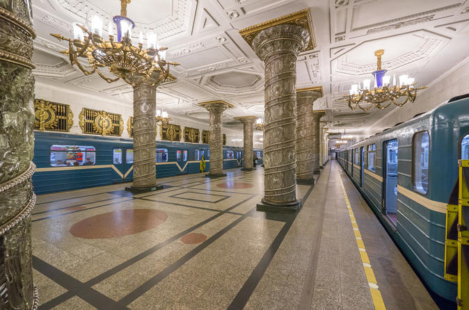 St. Petersburg Underground and Metro Stations Walking Tour
