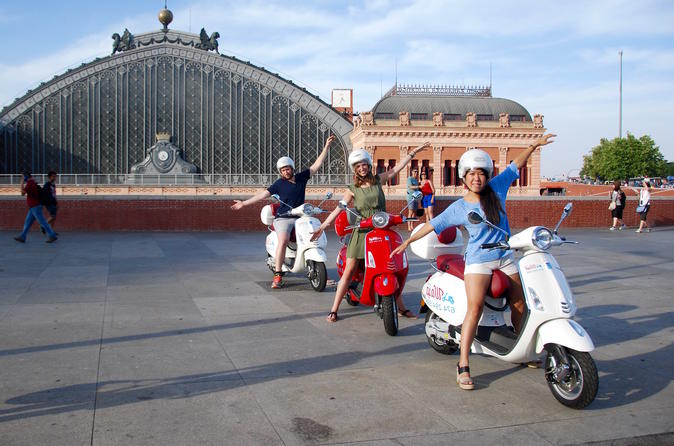 Madrid Guided or Self-Guided Vespa Tour