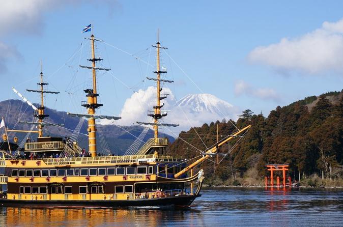 Viagem diurna ao Monte Fuji: Navio Pirata do Lago Ashi, Estação 5 do Monte Fuji e Outlets Premium de Gotemba, incluindo almoço