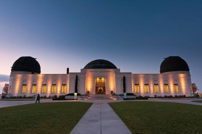 Hollywood, California Science Center, and the Griffith Observatory from Anaheim