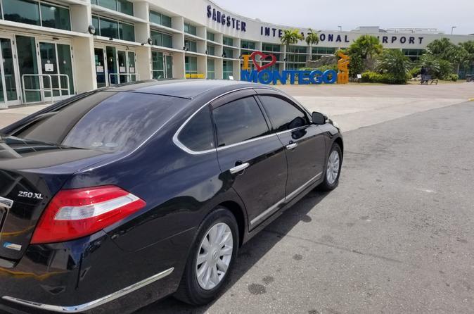 Iberostar Grand Rose Hall Luxury Sedan Round Trip Transfers MBJ Airport