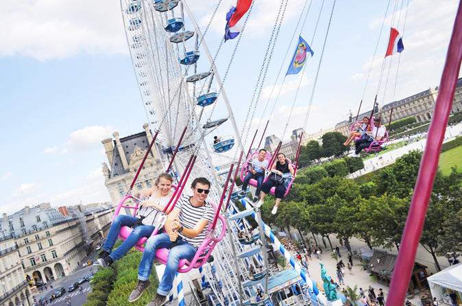 Summer funfair ride & Galeries Lafayette walking tour - Seasonal