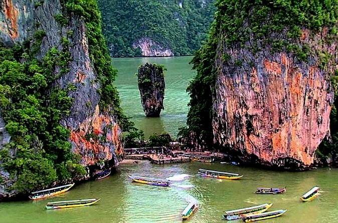 Canoagem em Khao Phing Kan saindo de Phuket de lancha