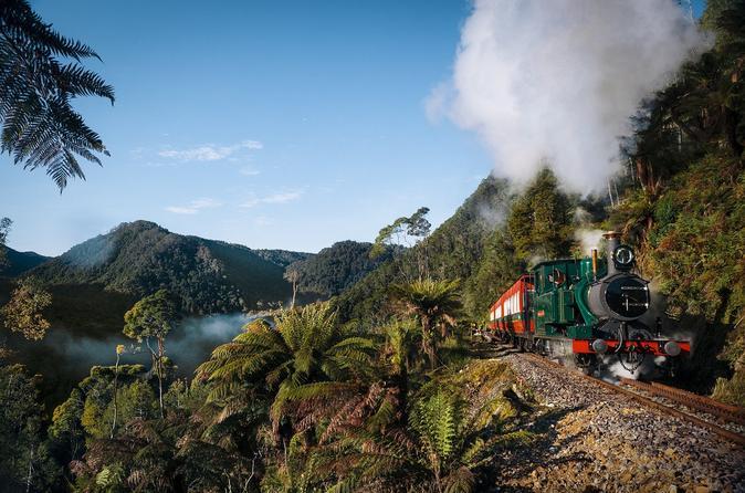West Coast Wilderness Railway: Rack and Gorge from Queenstown