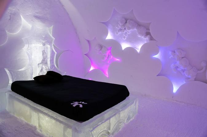 Sleep at the Quebec Ice Hotel Overnight Stay