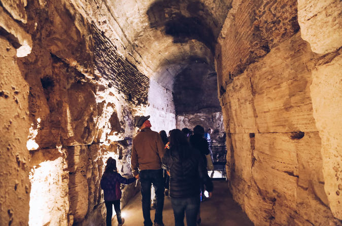 Colosseum Special Areas: Self-Guided Underground & Guided Panoramic Top Tiers - Rome