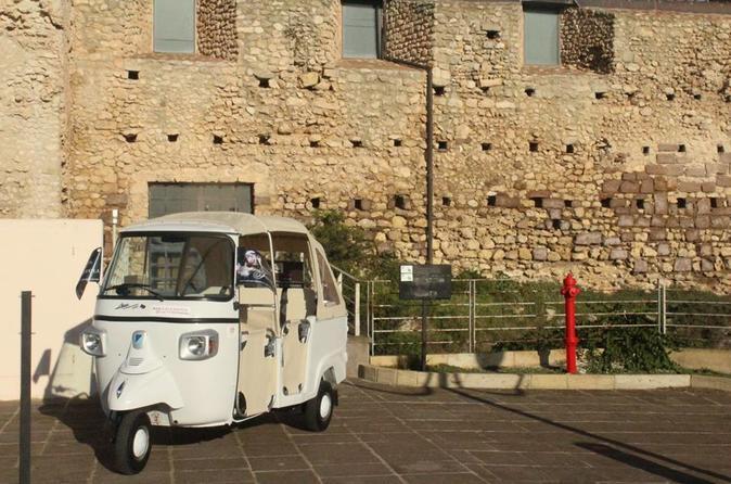 Tuk Tuk tour of Cagliari 4 districts and Castle of San Michele 2018