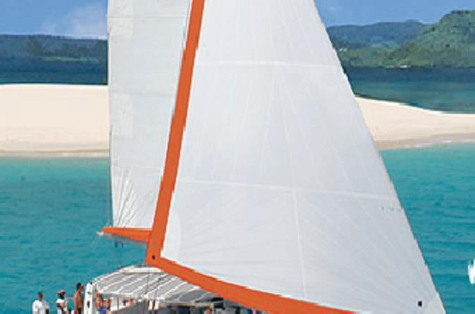 Catamaran cruise isle aux cerfs including bbq lunch in mauritius in blue bay 408307