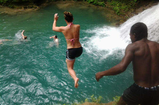 Blue Hole and River Tubing from Montego Bay
