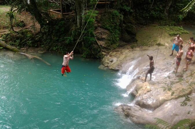 Ocho Rios Shore Excursion Dunn's River Falls Blue Hole River Tubing