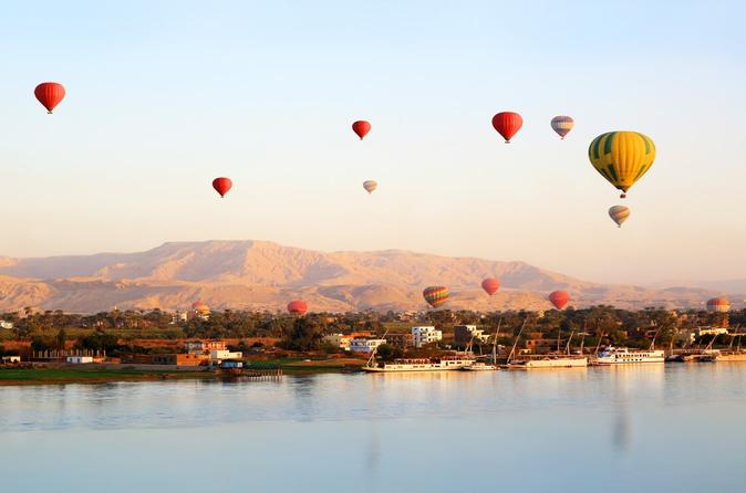 Hot Air Balloon Ride Over West Bank Of Luxor