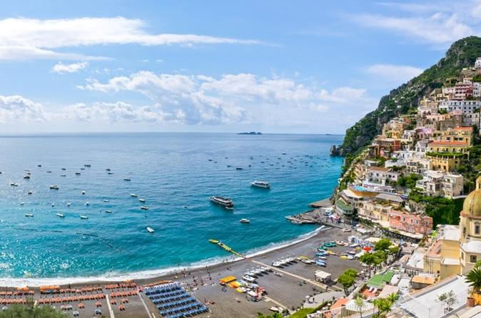 Transfer from Naples to Positano with stop at Vesuvius