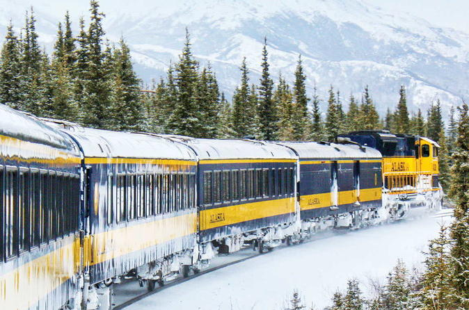 Alaska Railroad Aurora Winter Fairbanks to Anchorage One Way