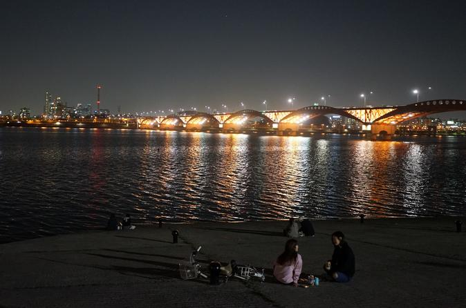 Small group guided night bike tour of seoul and the han river in seoul 454728