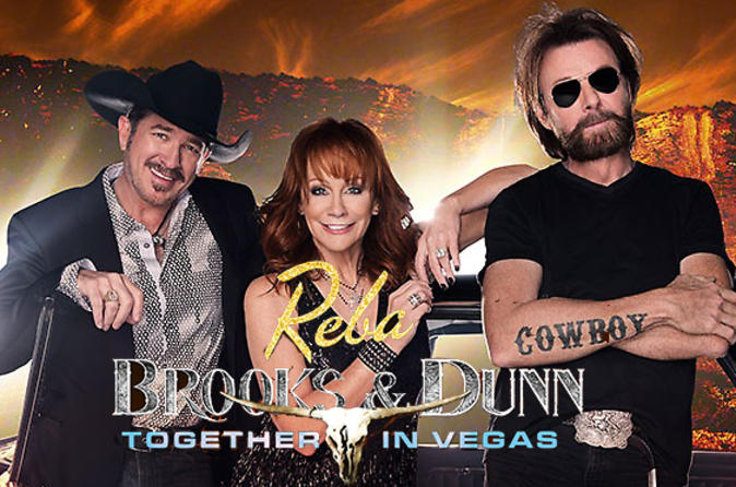 Reba, Brooks and Dunn at the Colosseum at Caesars Palace
