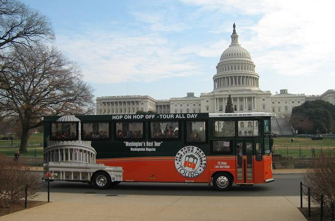 Washington DC Hop-on Hop-off Trolley Tour Includes Guided Tour of Arlington National Cemetery