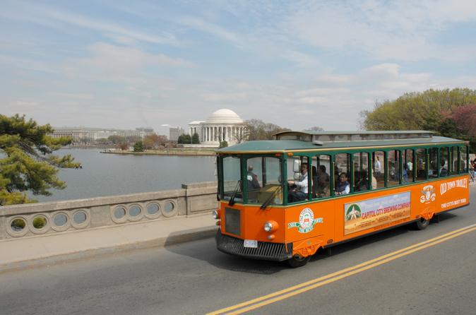 Washington DC supereconômico: Excursão noturna em bonde panorâmico e a Monumentos