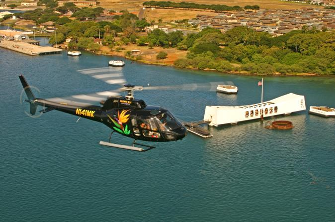 Oahu sky and sea combo helicopter tour with sunset dinner cruise or in oahu 140452