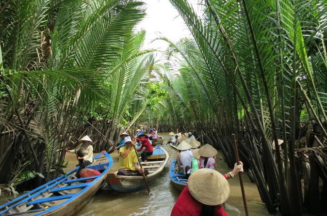 Excursão de Aventura para Grupos Pequenos com Descoberta do Delta de Mekong saindo da Cidade de Ho Chi Minh