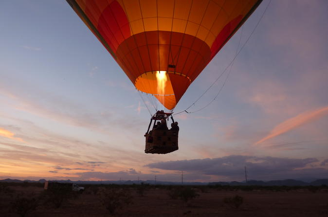 Phoenix hot air balloon sunset ride in phoenix 551294
