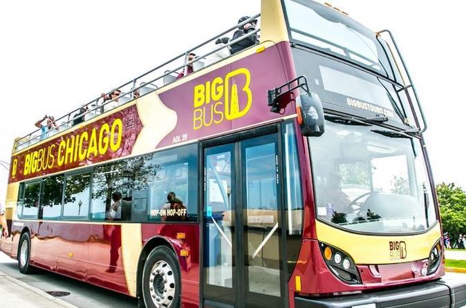 Excursão panorâmica de ônibus com várias paradas no Big Bus Chicago