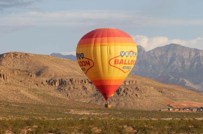 Las vegas hot air balloon ride in las vegas 167356