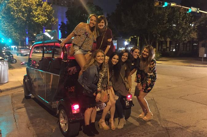 Open-Aired Downtown Austin Shuttle Rental for Bar Hopping or Private Events