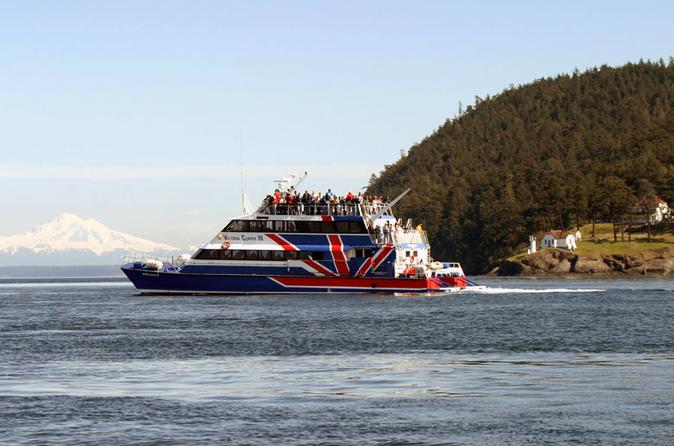 Viagem de um dia em Friday Harbor e observação de baleias de Seattle