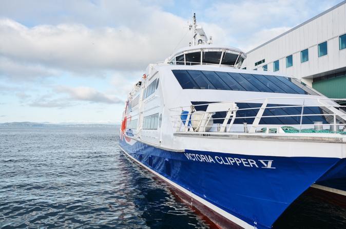 Viagem diurna saindo de Seattle a Victoria no Victoria Clipper