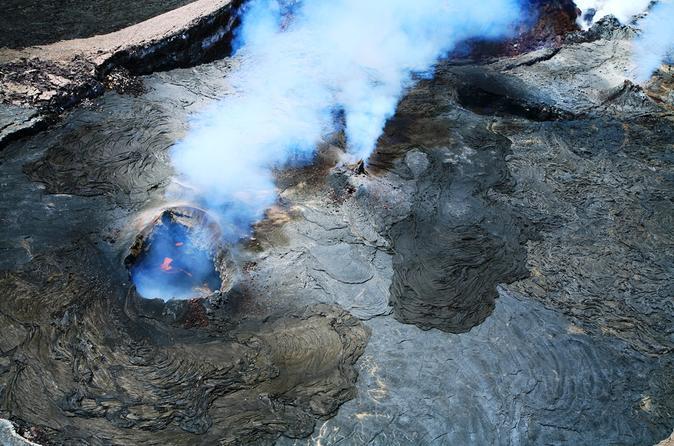 Excursão extrema com vulcões e cachoeira: voo de helicóptero de 45 minutos com portas abertas sobre os vulcões