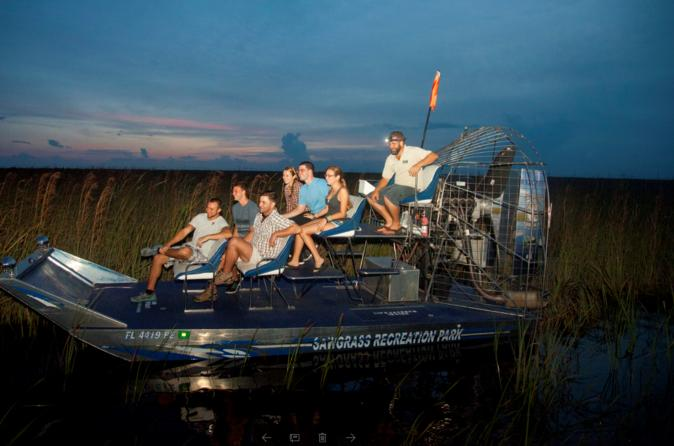 Private Night Tour: Florida Everglades Airboat Ride from Fort Lauderdale