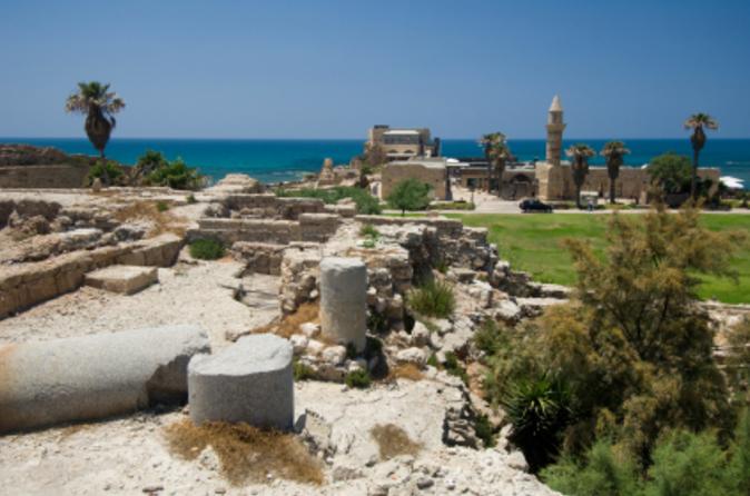 Viagem de um dia para Caeserea, Rosh Hanikra e Acre saindo de Tel-aviv