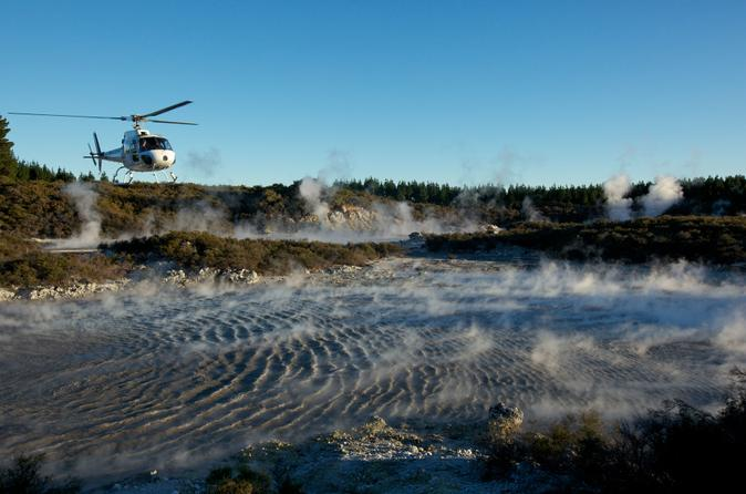 Mt Tarawera Helicopter Tour with Guided Walking Tour of Hells Gate Geothermal Reserve