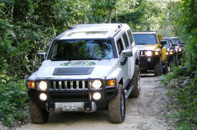 All inclusive self drive hummer tour ziplining cenote and interactive in cancun 43840