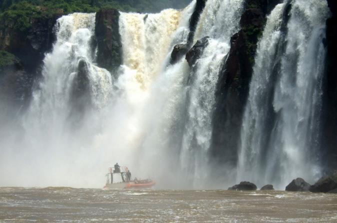 Iguassu falls day tour from puerto iguaz with waterfall boat ride in puerto iguazu 120803