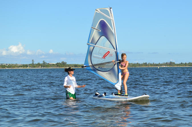 2 Hour Shared Windsurfing Lesson for Small Group from Miami