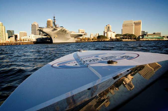 Viator Exclusive: San Diego Harbor Speed Boat, Bike Ride and USS Midway Tour