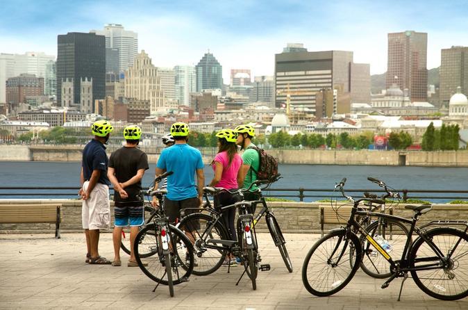 Excursão de meio dia de bicicleta em Montreal com duração de 4 horas