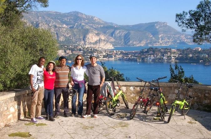 Excursão de bicicleta elétrica pela Riviera Francesa saindo de Nice