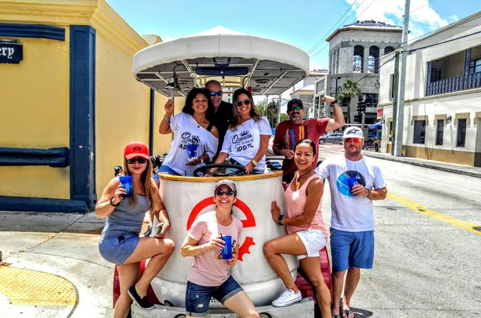 Small Group 2-Hour Party Bike Bar Crawl in Wynwood