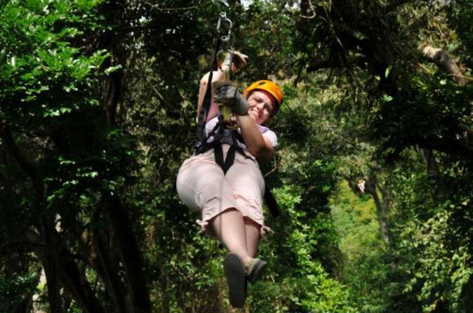 Roatan shore excursion zip n dip canopy tour in roatan 50334