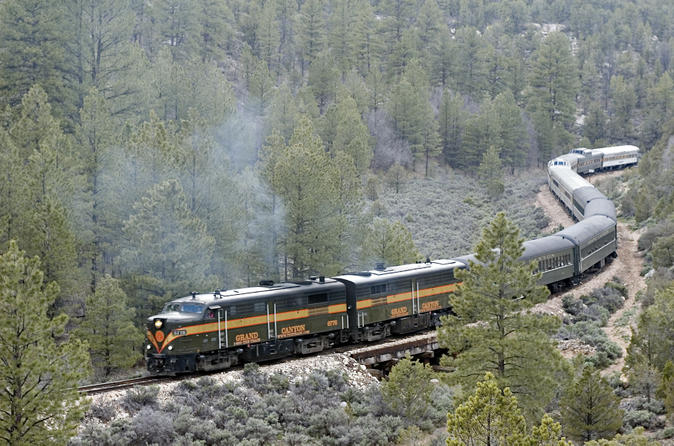 Excursion en train dans le Grand Canyon