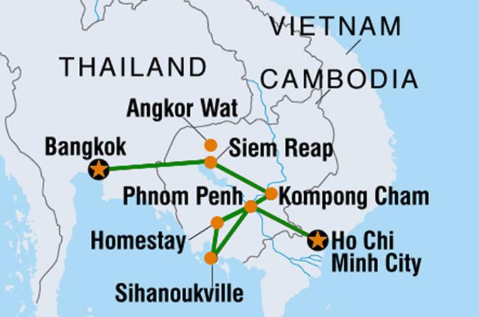 12 Days Basic Cambodia (from Bangkok to Saigon)