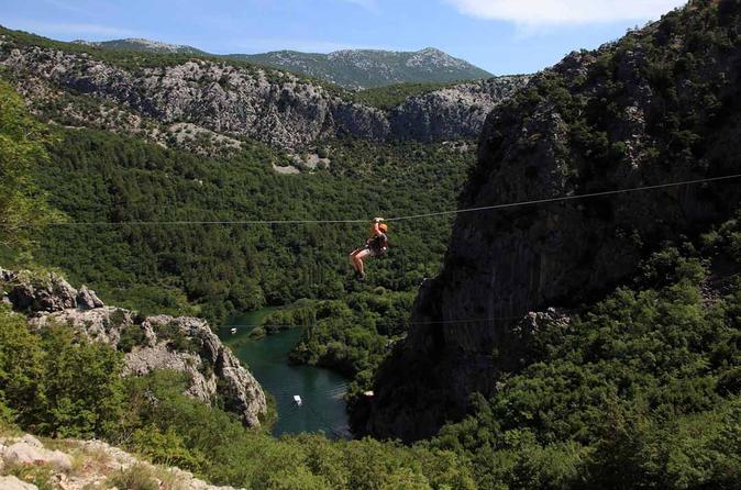 Cetina River Zipline Experience from Split