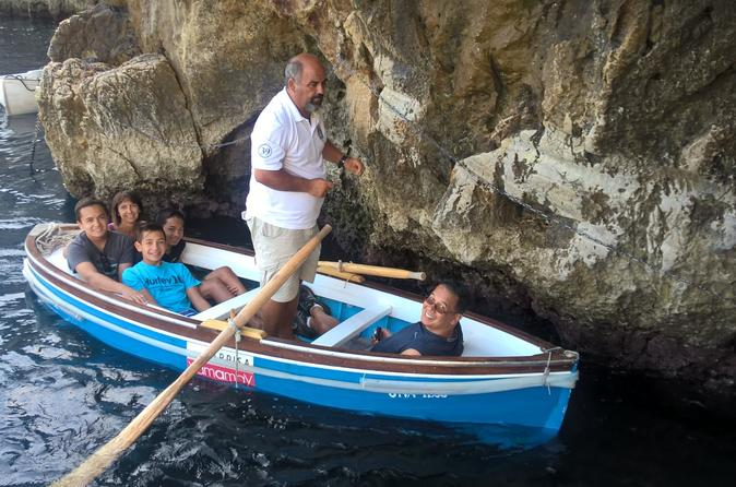 Capri and Blue Grotto Day Tour With Kids From Naples